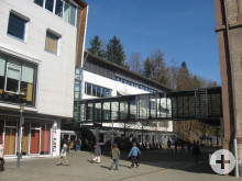 Ansicht des Neubaus der Conradin-Kreutzer-Schule