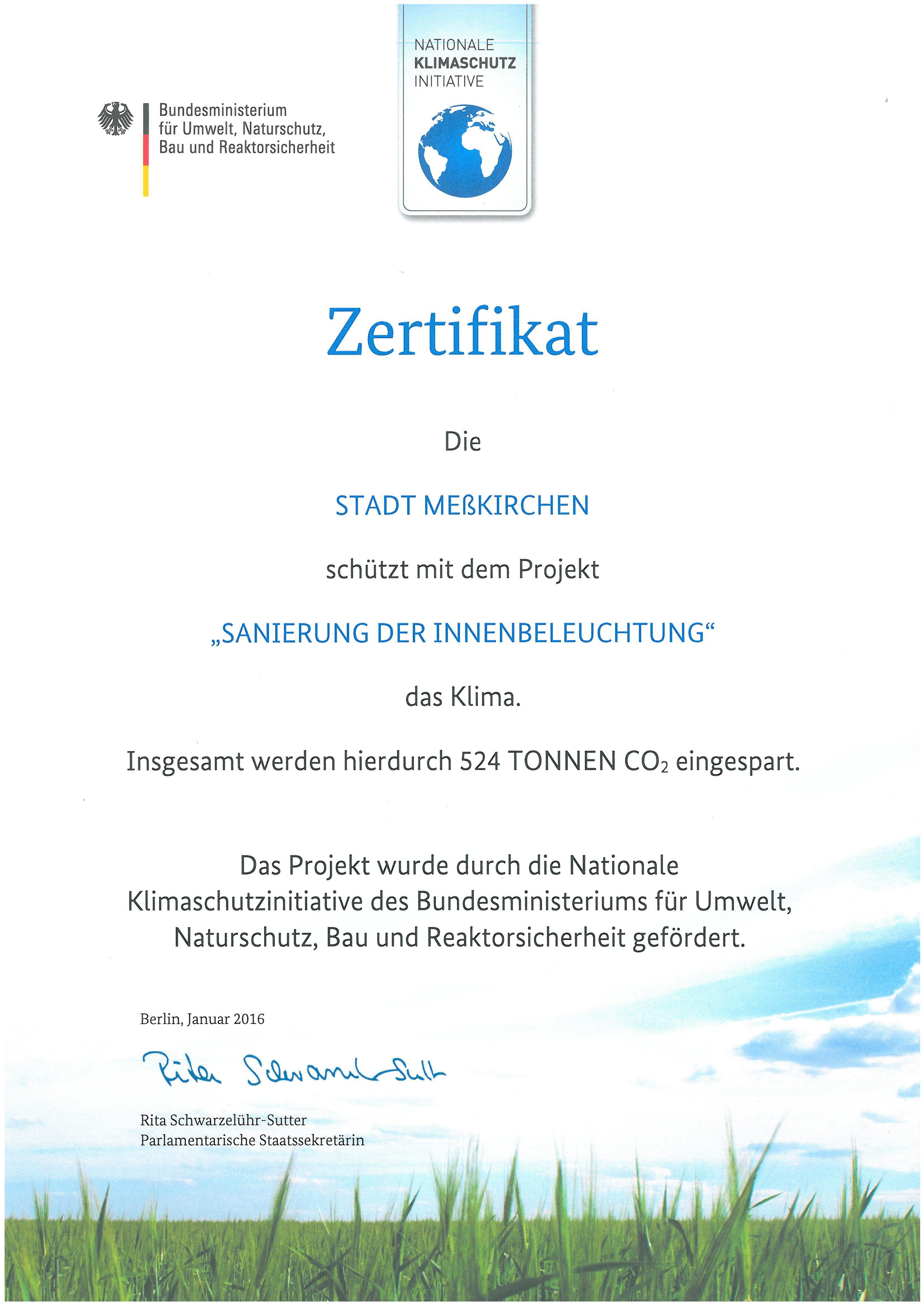 Zertifikat_Klimaschutzinitiative
