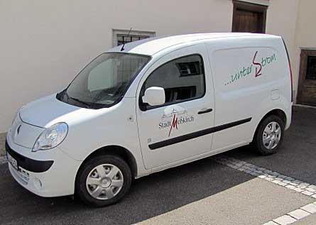 Dienstfahrzeug Stadtbauamt Meßkirch Elektro-Auto Renault Kangoo ZE