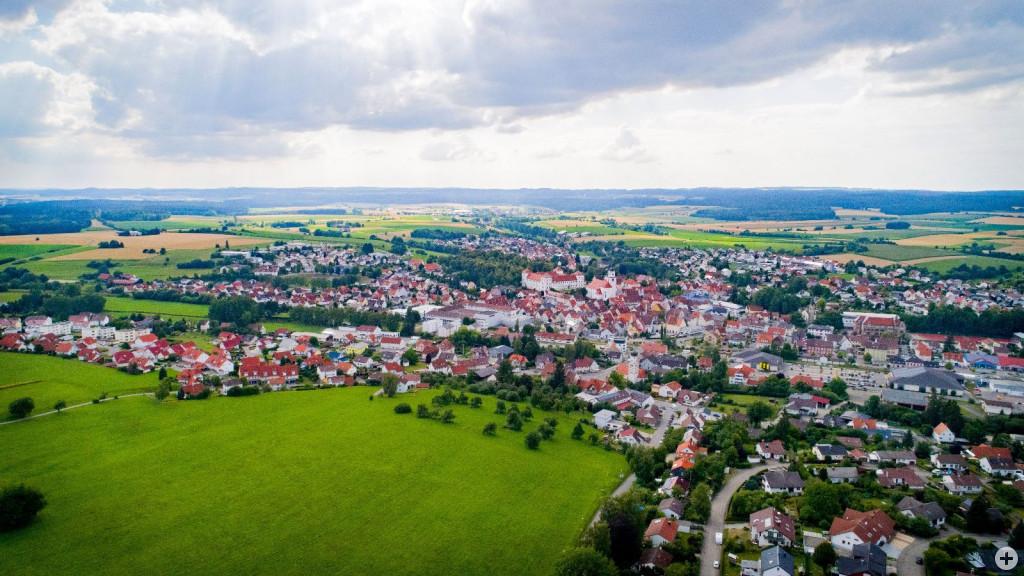 Luftansicht der Stadt Meßkirch