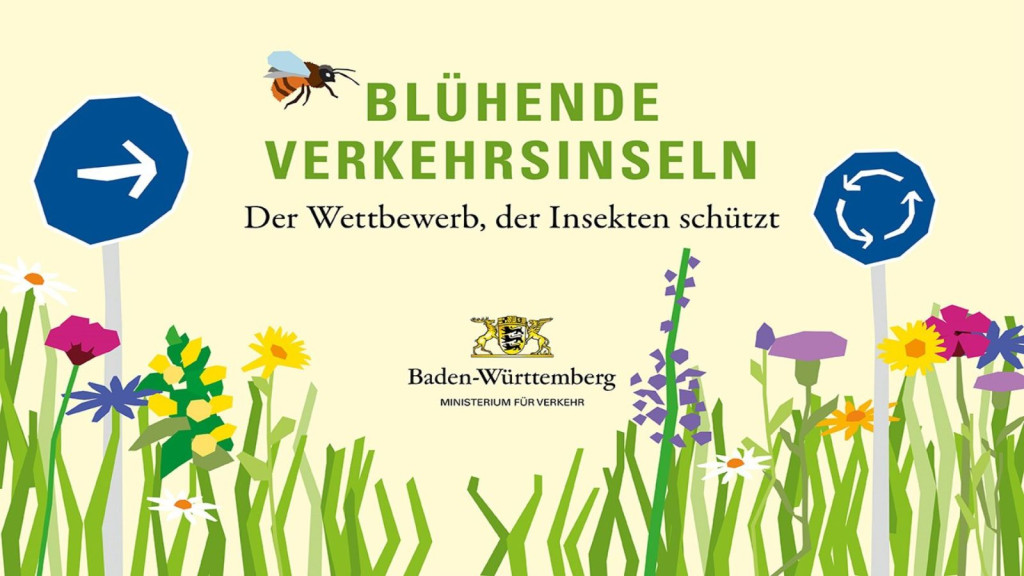 Blühende Verkehrsinsel - Der Wettbewerb, der Insekten schützt