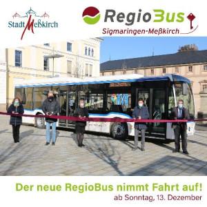 SocialMedia Post über den RegioBus. Offzielle Eröffnung mit Landrätin und Bürgermeister