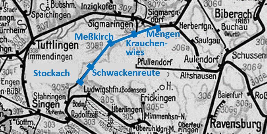 Ablachtalbahn - Karte